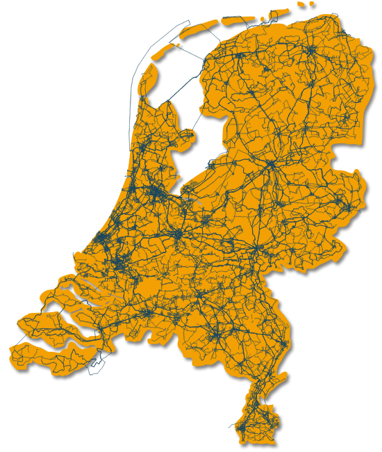 Fiber backbone in the Netherlands (2014)