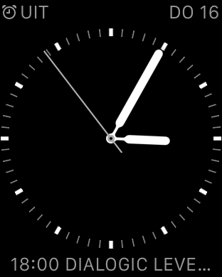 My current clock face